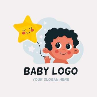 詳細な赤ちゃんのロゴ