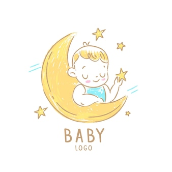 Detailed baby logo