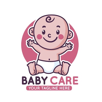 자세한 아기 로고