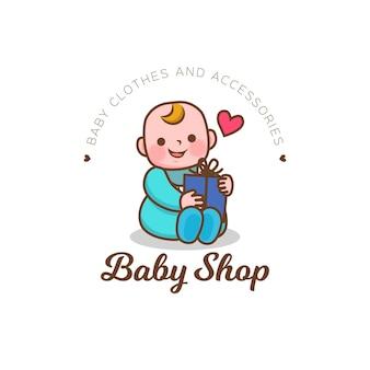 Detailed baby shop logo