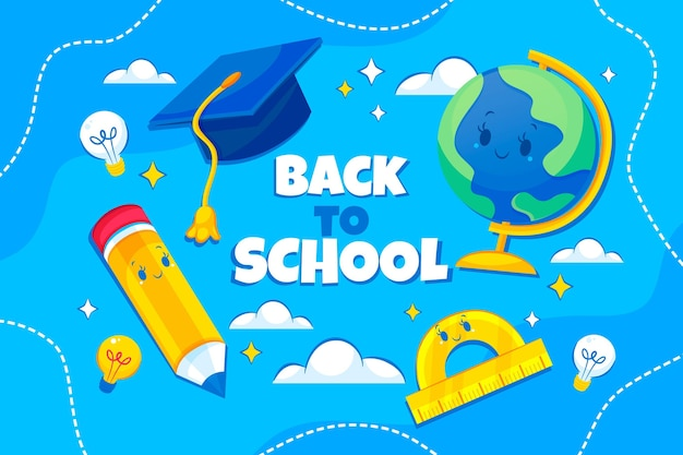 Detailed back to school background