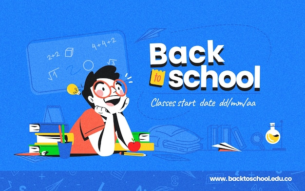 Detailed back to school banner