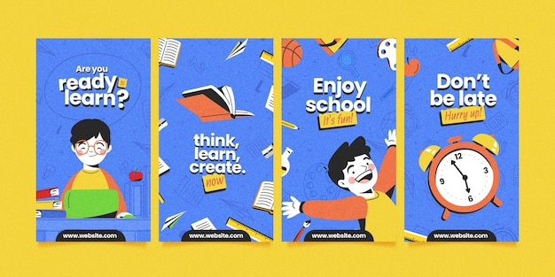Detailed back to school instagram stories collection