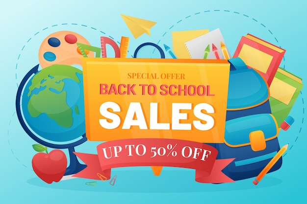 Detailed back to school sales background