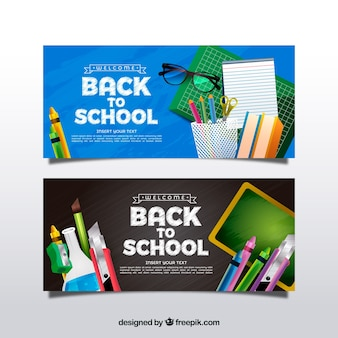 Detailed back to school banners