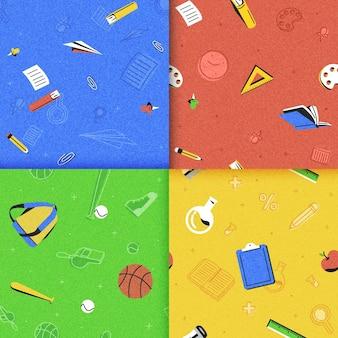 学校に戻る詳細なパターンコレクション