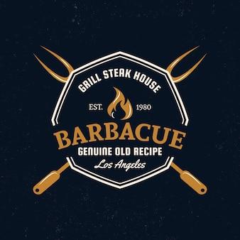 Modello dettagliato del logo del barbecue