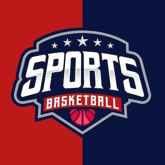 Detailed basketball esport and sport logo template