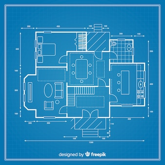 Detailed blueprint of a project for a house