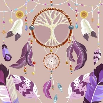 Detailed boho background
