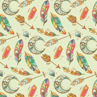 Detailed boho pattern design