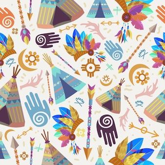 상세한 boho 패턴 디자인