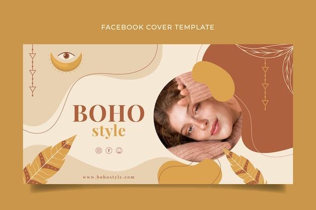 Detailed boho social media cover template