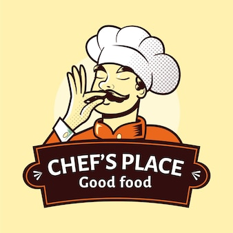 Detailed chef logo template