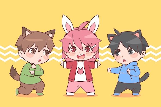 詳細ちびアニメキャラクター
