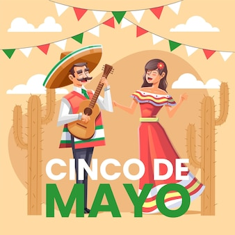 Detailed cinco de mayo illustration