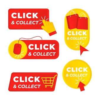 Detailed click and collect sign set