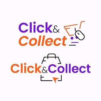 Fare clic e raccogliere insieme di segni dettagliati