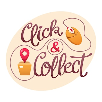 Detailed click and collect sign