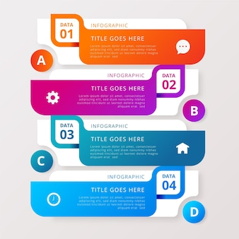 Detailed colorful infographic in gradient style