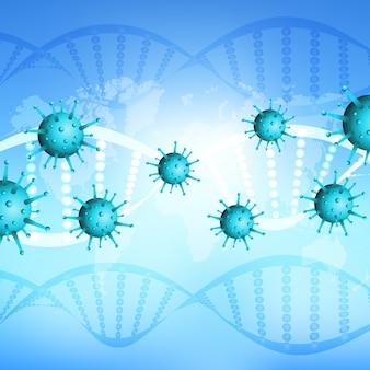 Подробная вирусная клетка короны