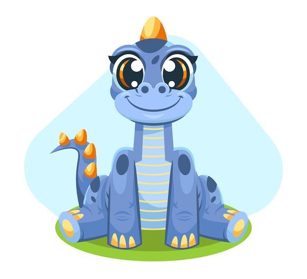 자세한 귀여운 아기 공룡