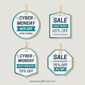 Detailed cyber monday labels