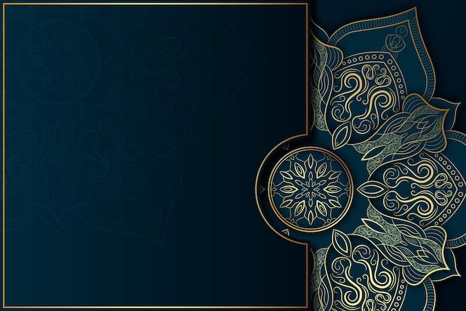Detailed dark mandala background