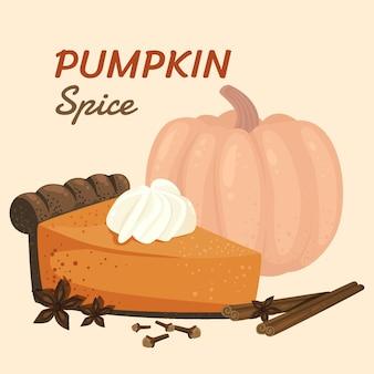 Detailed delicious pumpkin spice illustration