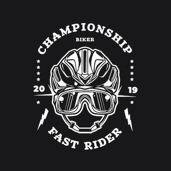 Detailed design of bike logo template