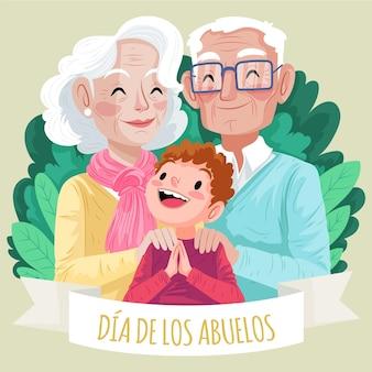 Detailed dia de los abuelos illustration