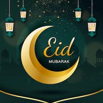 Illustrazione dettagliata di eid al-fitr