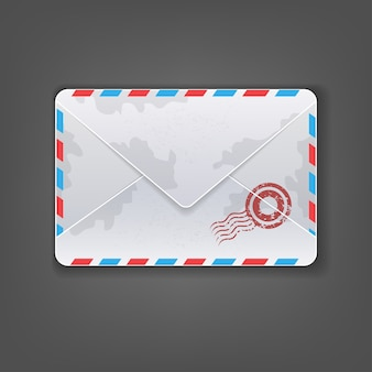 Detailed envelope mail icon