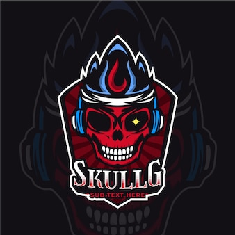 Detailed esports gaming logo template