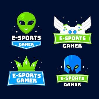 자세한 e 스포츠 게임 로고