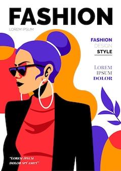Dettagliata copertina di una rivista di moda