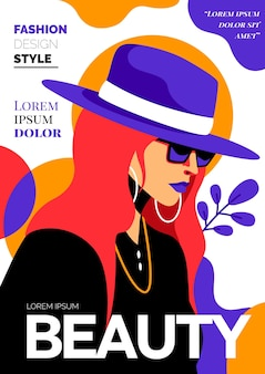 Подробная обложка модного журнала