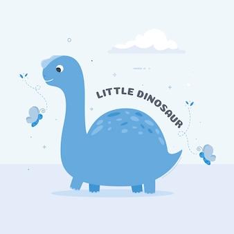 詳細なフラットデザインの赤ちゃん恐竜