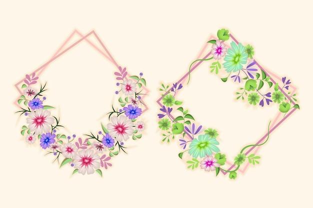자세한 꽃 화환 컬렉션