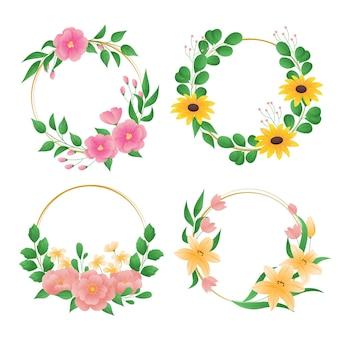 Подробная коллекция цветочных венков