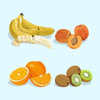 Подробная коллекция фруктов