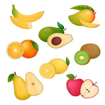 Raccolta di frutta dettagliata
