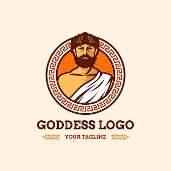 Detailed god logo template