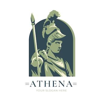 Подробный шаблон логотипа богини