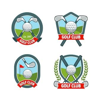 Raccolta dettagliata del logo del golf