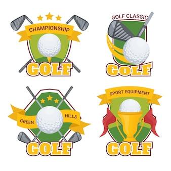 Подробная коллекция логотипов гольфа