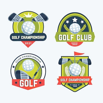 Detailed golf logo collection