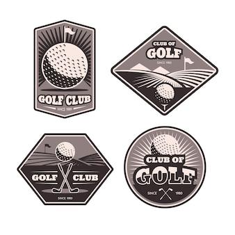 詳細なゴルフロゴコレクション