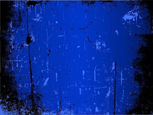 青の色合いの詳細なグランジ背景