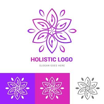 Подробный целостный шаблон логотипа
